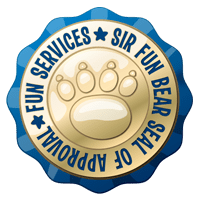 sir fun bears seal of approval for nj fun services