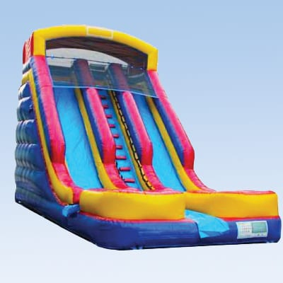 dual lane inflatable slide