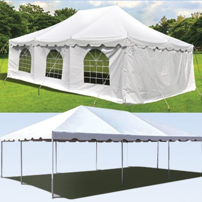 20x30 foot white tent party rental