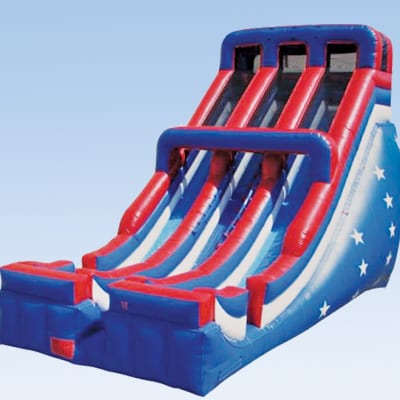 patriotic inflatable slide