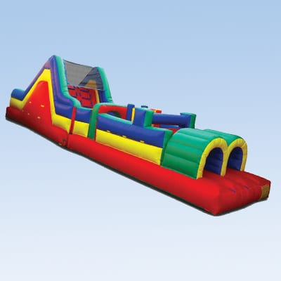 colorful 38 ft obstacle course for kids