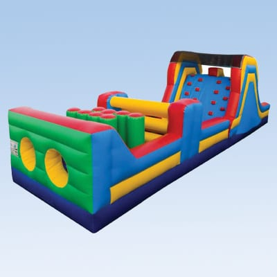 colorful 40ft inflatable obstacle course for kids