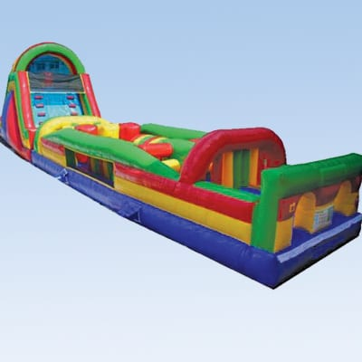 colorful 68ft obstacle course