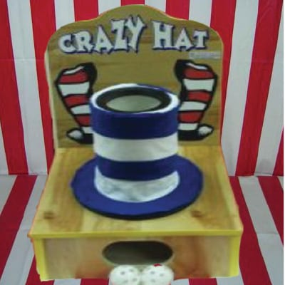 crazy hat ball throwing tabletop game