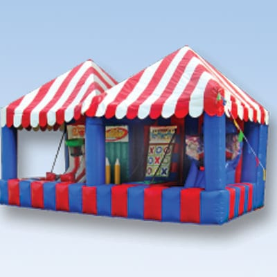 double inflatable game booth party rental