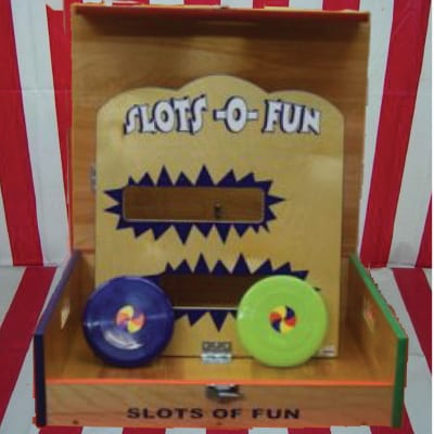 slots o fun frisbee throwing game