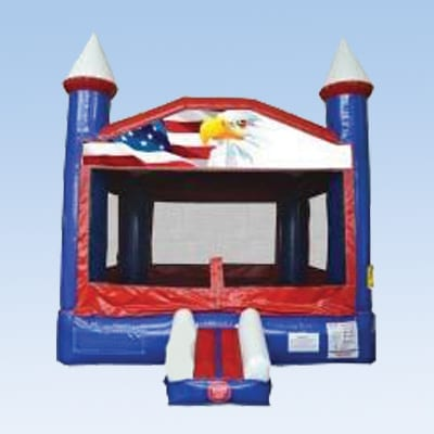 Patriotic Eagle Bounce house
