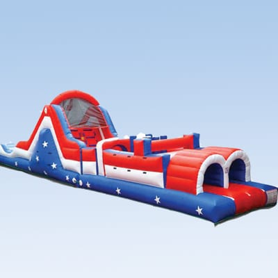 american themed inflatable obstacle course