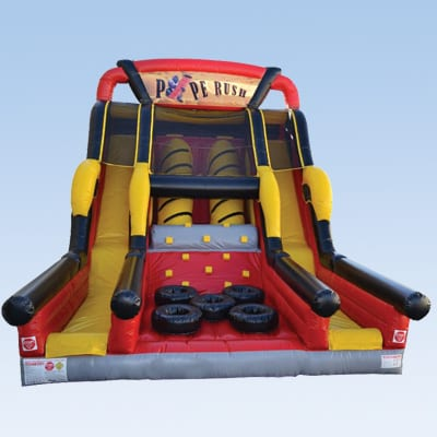 pipe rush inflatable slide