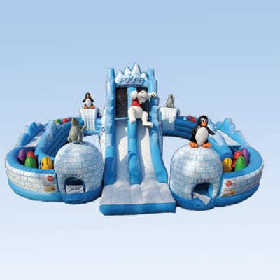 polar express winter themed obstacle course