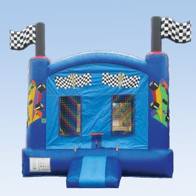 race car moonwalk bounce house