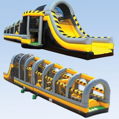 toxic drop 90ft inflatable obstacle course