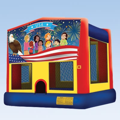 patriotic themed bounce house